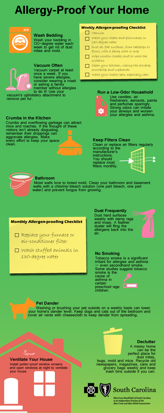 Allergy Proof Your Home Infographic