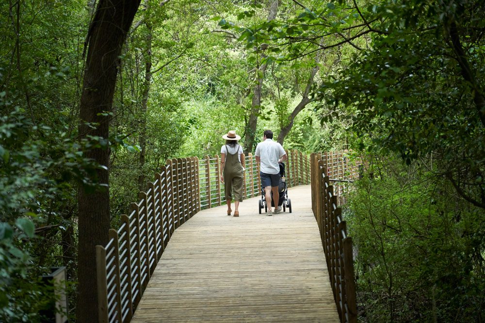 couple walking in nature in South Carolina